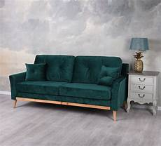 dreisitzer sofa dreisitzer couch sofa samt smaragd polstersofa sofabank