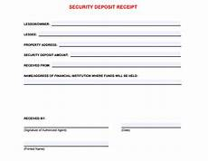 5 free security deposit receipt templates word excel pdf formats