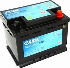 Autobatterie 60 Ah - autobatterie exide ek600 agm start stop 12v 60ah 680a