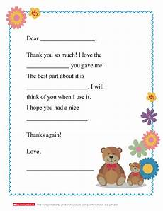 a thank you note worksheets printables