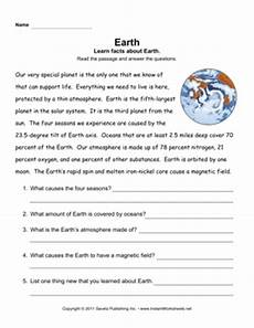earth science reading comprehension worksheets 13265 earth comprehension