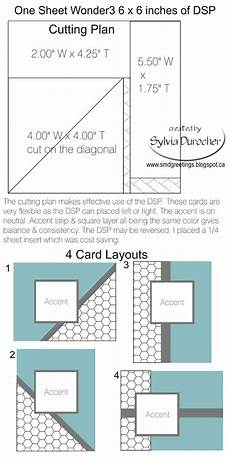 smd paper arts one sheet wonder 3 6x6 template 4 cards