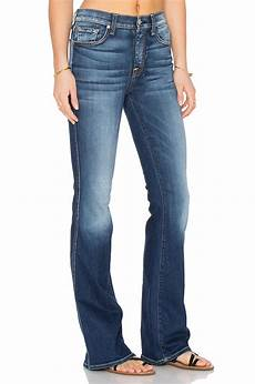 7 for all mankind high waist vintage bootcut in blue lyst