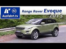 2013 Range Rover Evoque 2 2 Sd4 4wd Fahrbericht