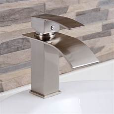 bathroom and kitchen faucets elite modern bathroom sink waterfall faucet brushed nickel 8803bn bathroom sinks sink