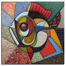 3d Diy Berlian Lukisan Abstrak Ikan 50x50 Cm Diy Berlian