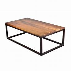 Iron Mango Wood 52 Quot Industrial Coffee Table