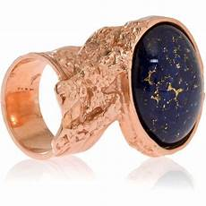 yves laurent arty blue and gold plate ring