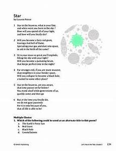 poem worksheets for 5th grade 25464 5th grade poems echoing green literary text test prep