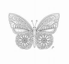coloring page butterfly printable digital