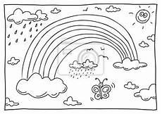 ausmalbild regenbogen einhorn