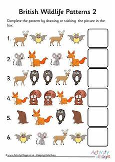 animal pattern worksheets 14350 wildlife patterns 2