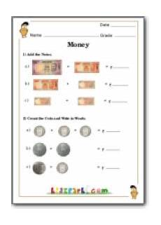 adding rupees and paise math money addition and counting class 1 worksheets money worksheets