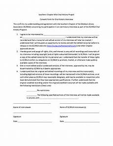 consent form for interview history fill online printable fillable blank pdffiller