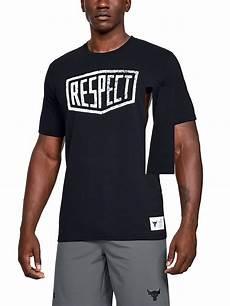 armour herren t shirt project rock respect graphic
