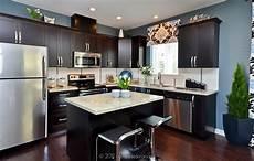 decorate your kitchen with dark kitchen cabinets interior design