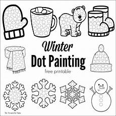 winter worksheets free printable 20002 winter dot painting free printable the resourceful