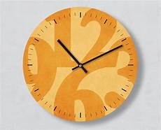 moderne wanduhr big one gelb gro 223 e zahlen 30 cm