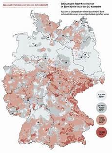 Bfs Wie Ist Radon In Deutschland Geographisch Verteilt