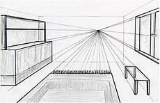 Fluchtpunkt Zeichnen Zimmer - 04