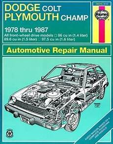 free online auto service manuals 1992 plymouth colt interior lighting haynes repair manual for dodge colt and plymouth ch 1978 thru 1987