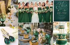emerlad green and gold wedding ideas themed wedding in gold wedding color combinations