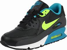 nike air max 90 youth gs shoes black turquoise yellow