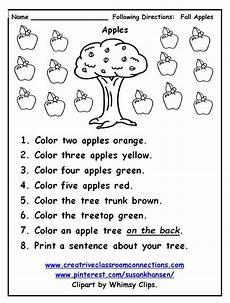 following directions comprehension worksheets 11654 free following directions worksheet provides practice with color and number w following