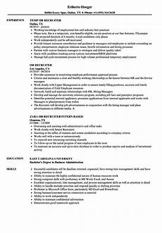 hr recruiter resume exles best resume exles