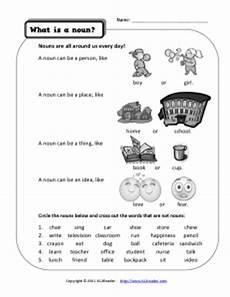 nouns kindergarten and first grade noun worksheet