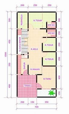 ツ 25 Desain 3d Rumah Minimalis 1 Lantai 3 Kamar Tidur