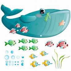 Stickers Mer Frise Baleine Stickers Muraux Stickers