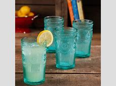 The Pioneer Woman Adeline 16 Ounce Emboss Glass Tumblers