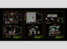 Two Story House with Terrace 2D DWG Plan for AutoCAD