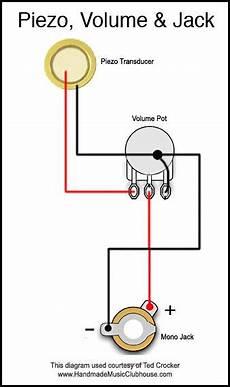 Piezo Diagram With Volume Pot And Cbg S Steel