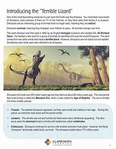 dinosaur characteristics worksheets 15288 dinosaurs lesson plan clarendon learning