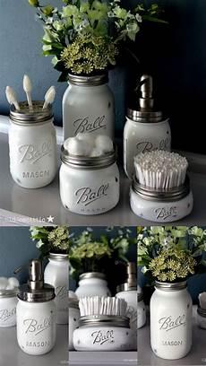 Buy Jar Bathroom Set by Handmade Shabby Chic Vintage Style Jar