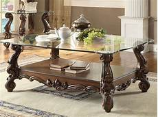 Glass Coffee Table Top versailles glass top coffee table cherry oak finish