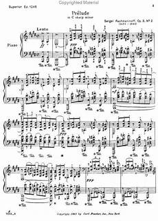 prelude in c sharp minor op 3 no 2 sheet music by