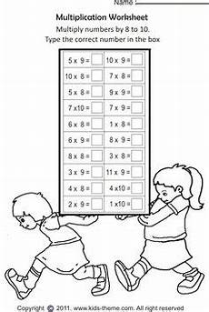 printable math worksheets multiplication 9 times table 2 education pinterest printable