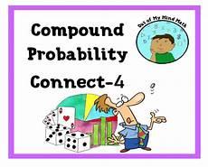 probability compound events worksheets 5766 compound probability connect 4 algebra activities connection algebra