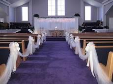 wedding pew bows church decorations living room interior