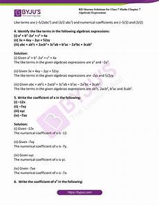 7th grade algebraic expressions worksheets for class 7 pdf preschool k worksheets
