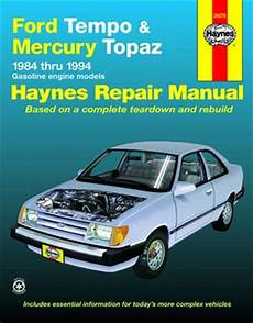 buy car manuals 1988 mercury topaz instrument cluster all ford tempo parts price compare