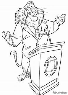 zootopia coloring pages print and color com