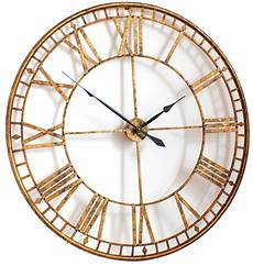 vintage gold skeleton wall clock uk