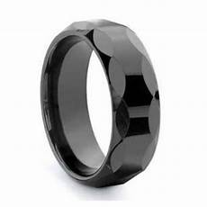 men 8mm faceted black ceramic wedding band ring size 12 ebay