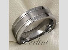 Mens Tungsten Ring Infinity Wedding Band Titanium Color