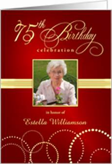 75th birthday card template 75th birthday invitations from greeting card universe