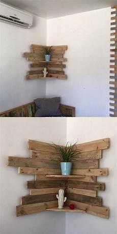 Home Decor Ideas With Wood by Beautiful Diy Wooden Pallets Corner Shelf Fresh Idea